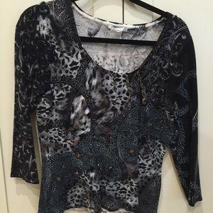 🇺🇸 3/$30 ALBERTO MAKALI black knit top