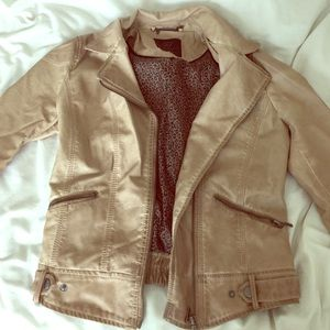 Zara faux leather jacket!