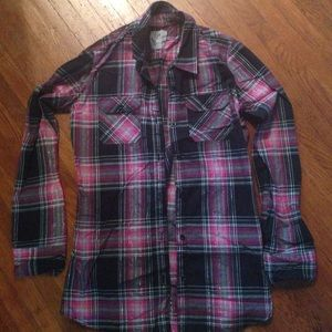 50 Off Nollie Tops Women 39 S Blue Black And White Plaid