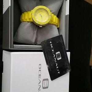 Oceanaut Jewelry - Yellow jelly strap watch