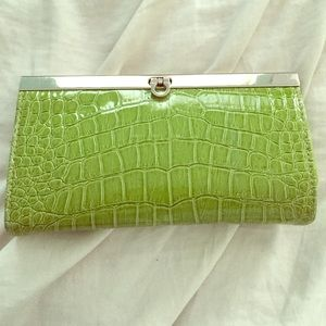 SALE Green clutch wallet