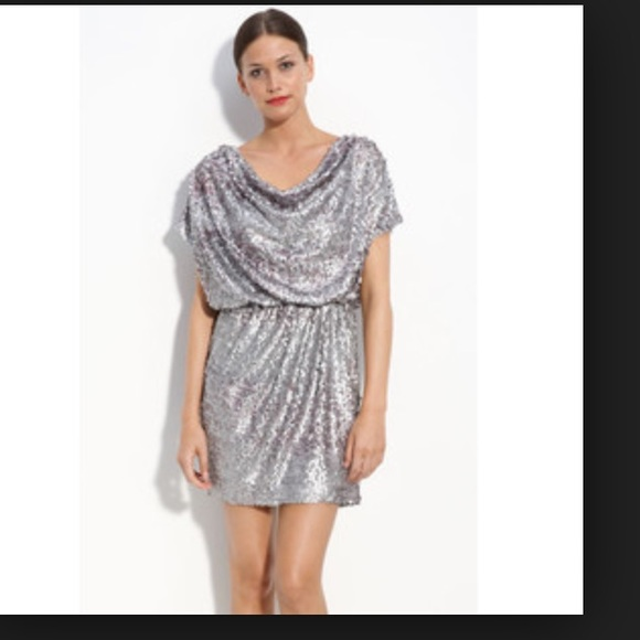 Aidan Mattox Dresses & Skirts | SALE TODAY ONLY Silver Sequin ...