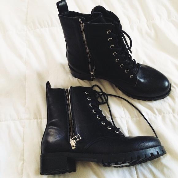 H\u0026M Shoes   Hm Lace Up Combat Zipper