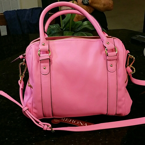 45% off Merona Handbags - Hot pink satchel or cross body purse ...