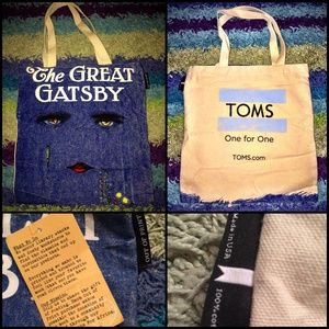 TOMS Shoes x THE GREAT GATSBY Rare Tote Bag Purse