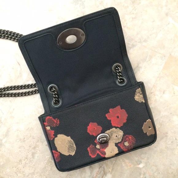 69% Off Coach Handbags - Coach Jeweled Floral Leather Mini Crossbody Bag From Lisau0026#39;s Closet On ...