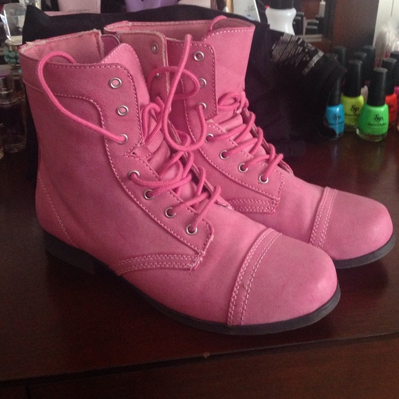 29% off Boots - Sz 5Y - 7womens pink combat boots from Jenn's ...