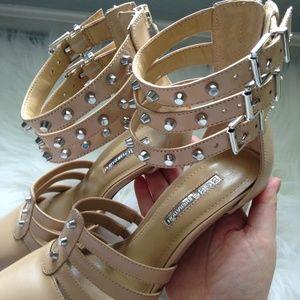BCBGeneration Shoes - BCBGeneration Nude Studded Pumps