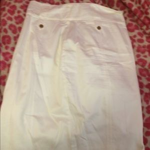 White/cream knee length skirt