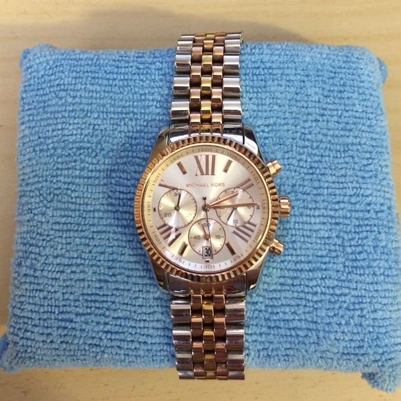 4a7b54a7e4b8 Michael Kors Lexington Chronograph Tri-tone Watch.  M 555bb815eaf0300ad50005b6