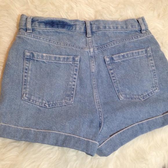 Topshop Jeans - Topshop Light Wash Mom Shorts