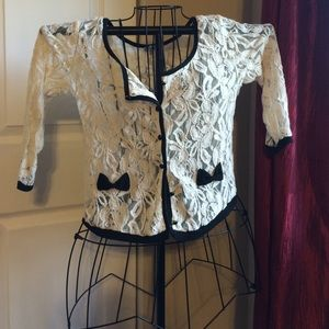 Charlotte Russe lace cardigan