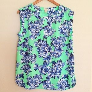 J. Crew Factory Drapey Sleeveless Top