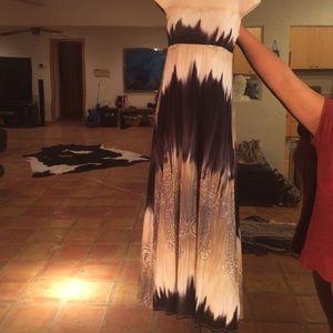 Black Bead tube dress or maxi skirt
