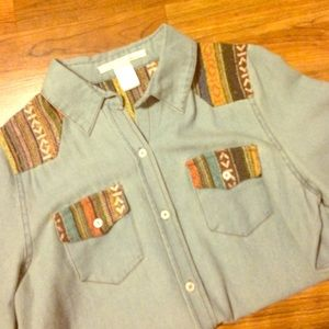 Cute chambray button up!