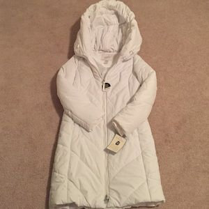New White Jaclyn Smith Down Mid Length Jacket S