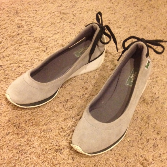 949c6e712b74 LACOSTE Wedge Shoes in Grey