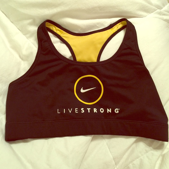 8ea56ed744496 Nike LIVESTRONG Sports Bra in Black   Yellow •. M 555c0575a88e7d21a0001aea