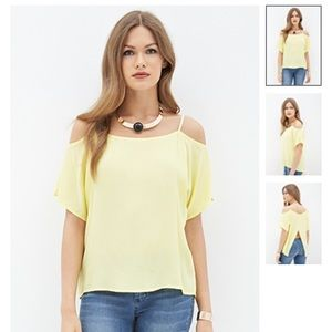 Forever 21 top yellow size m
