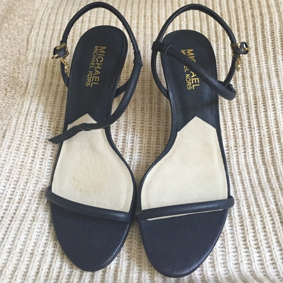 Michael Kors Navy Blue Sandal | Poshmark