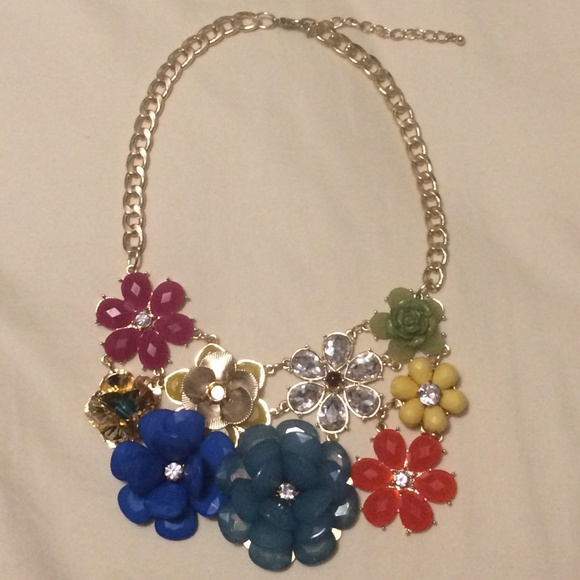 m haskell m haskell bold statement necklace from