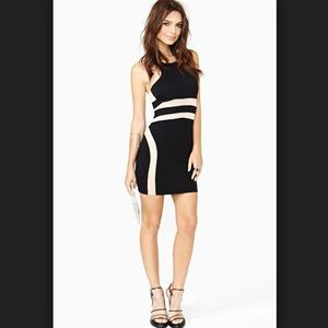 Nasty gal heat division black mesh bodycon dress