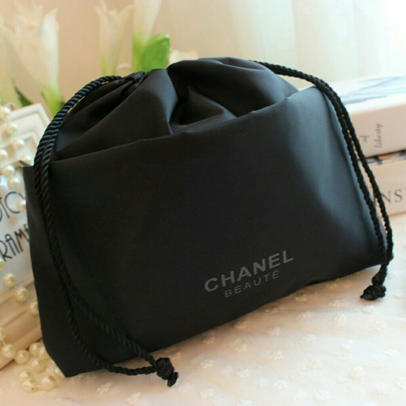 51% off CHANEL Accessories - Chanel beaute black drawstring ...