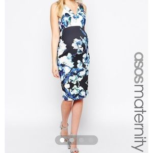 Asos maternity dress floral size 4