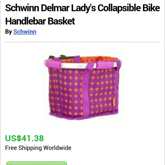 d9592ad7729 schwinn Accessories | Handlebar Basket | Poshmark