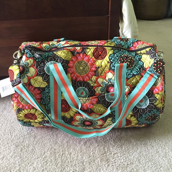 60 off vera bradley handbags vera bradley round duffel for Vera bradley bathroom bag