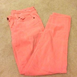 Jcrew neon toothpick pants