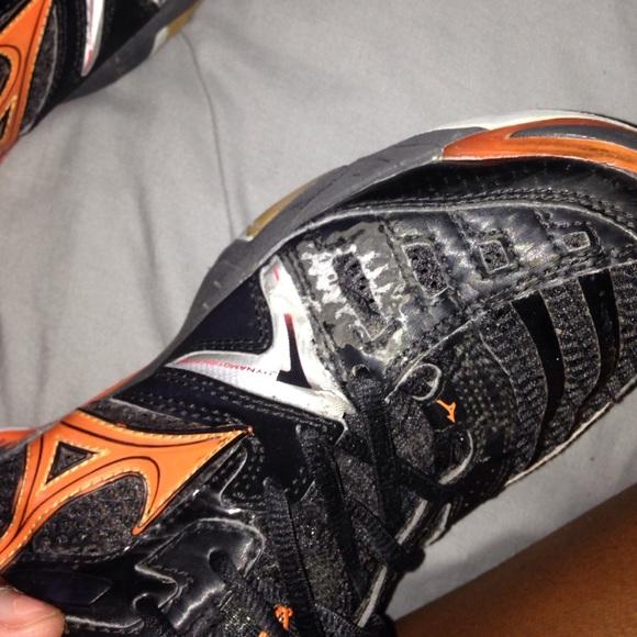 Mizuno Naranja Y Zapatos Negros De Voleibol 7HHIi