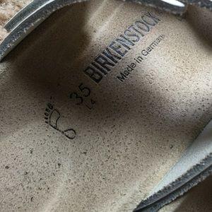 Birkenstock Arizona white pebbled leather 5 35