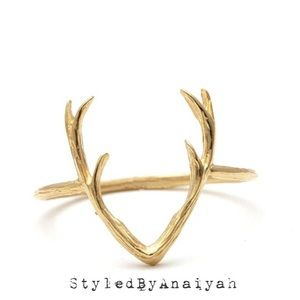 Silver and Gold plated Antler Rings