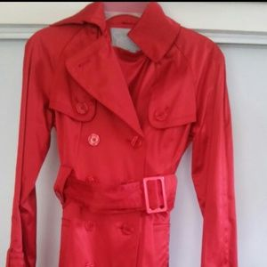 Jessica Simpson original red trench coat