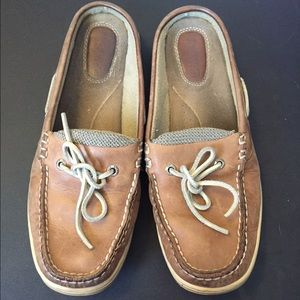 Sperry Top-Sider Shoes - like new backless leather sperry topsiders