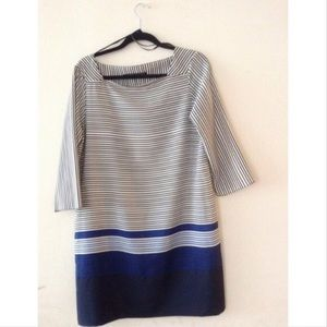 ️NWT Zara colorblock dress navy/black stripe
