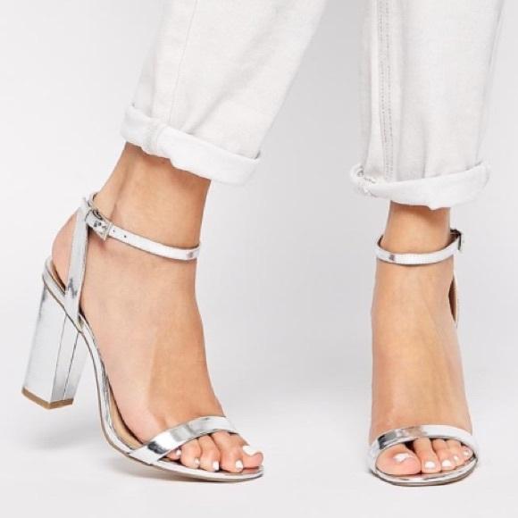 cf225a65bf85 ASOS Shoes - HP🎉ASOS Hermione Heeled Sandal Silver Block Heel