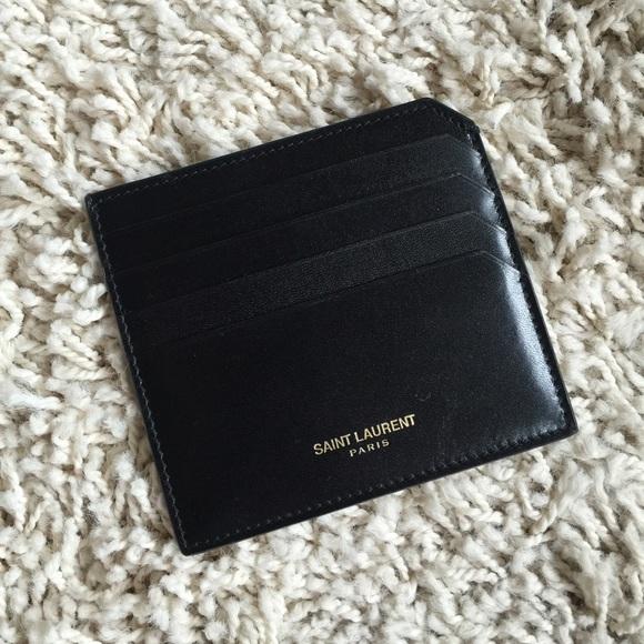 ysl card holder wallet