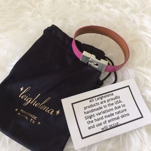 Leighelena leather bracelet