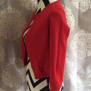 Red Ralph Lauren Quarter Length Sweater Cardigan