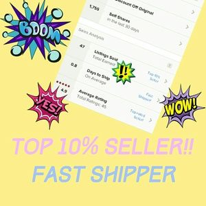 I'm a TOP 10% Seller & Fast Shipper
