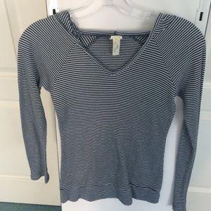 Blue n white striped sweater