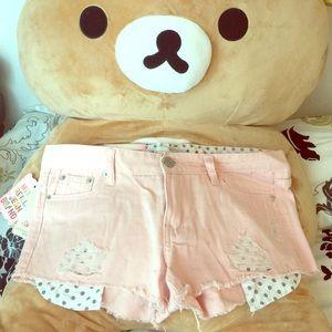 Pastel Pink Polkadot Shorts