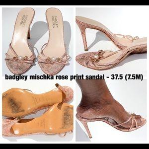 Badgley Mischka Rose Gold Sandals