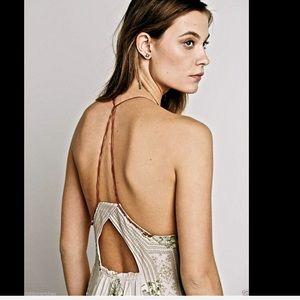 4494698e5e Free People Dresses - Free People nude tan embroidered Dress NWT M