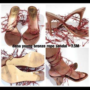 Dana Young Bronze Rope Sandals