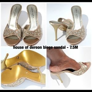 House of Deron Beige Sandals
