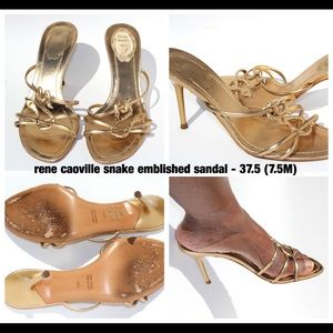 Rene Carville Gold Sandals