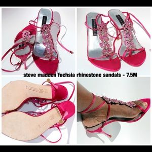 Steve Madden Pink Rhinestone Sandals